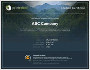 PrintReleaf Certification