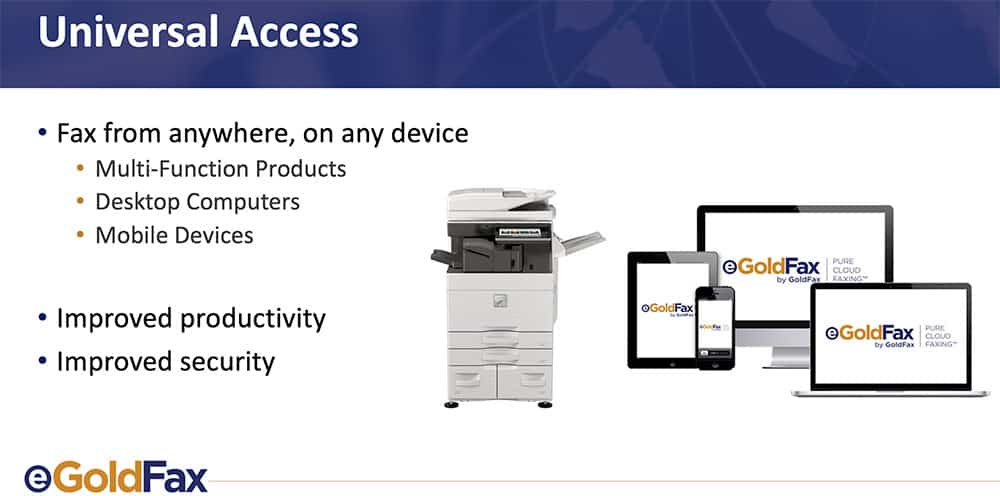 Universal Access with eGoldFax